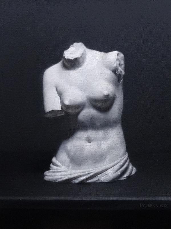 Venus Torso [Oil paint on linen canvas done from cast] 2015