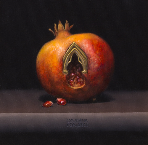 Into the pomegranate still life [Oil on canvas done from live setup] 2016